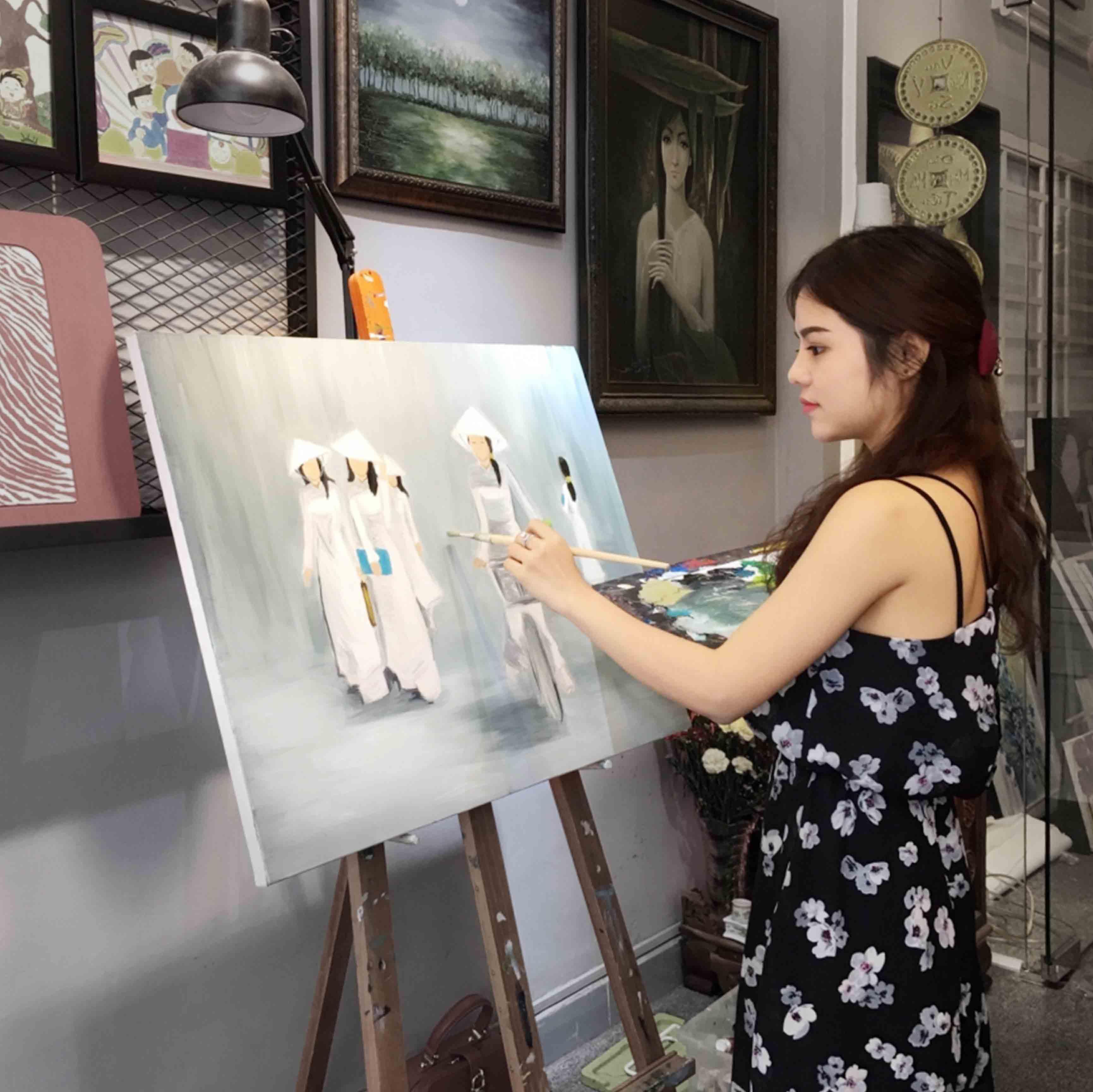 Dịch vụ vẽ tranh sơn dầu theo yêu cầu